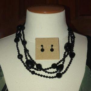 Talbots Necklace, Earrings, and Brooch